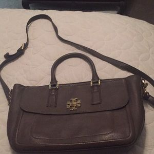 Brown Leather Tory Burch Purse